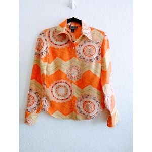 Lucky Brand Vintage Style Silk Top Size XSmall
